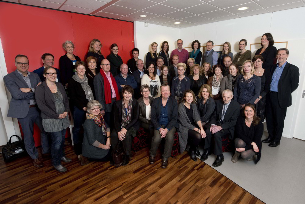 Groepsportret van Waardigheid en trots - Ruimte voor verpleeghuizen groep 1 thema kwaliteitsverantwoording