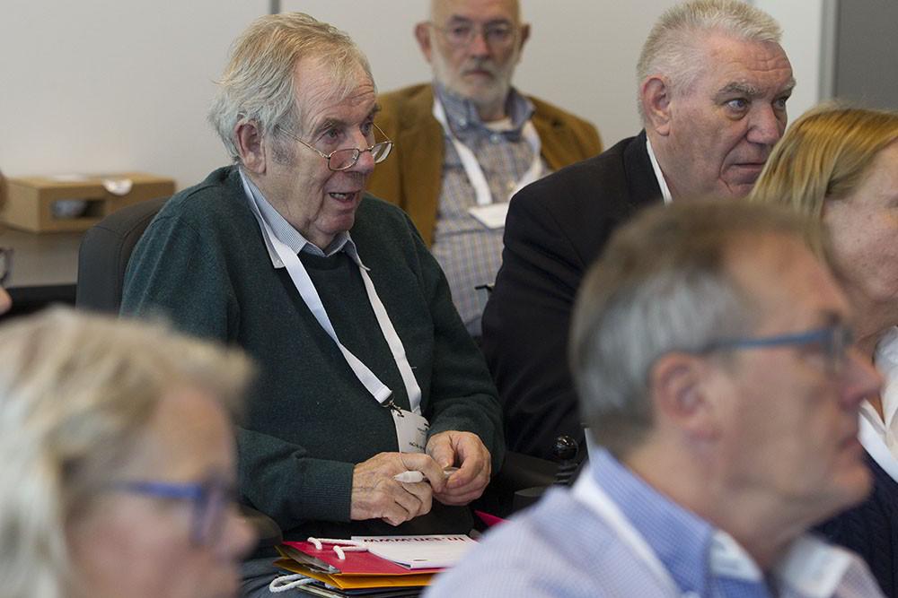 Een deelnemer van de cliëntenraad aan de workshop 'Vrijheid: er is meer mogelijk dan u denkt'