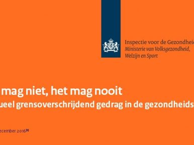 Afbeelding bij 'IGZ brochure 'Seksueel grensoverschrijdend gedrag in de gezondheidszorg..'