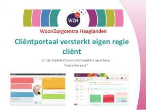 Screenshot presentatie cliëntenportaal