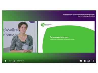 Afbeelding bij 'Video inspiratiesessie kwaliteitsverbetering verpleeghuiszorg: Persoonsgerichte ..'