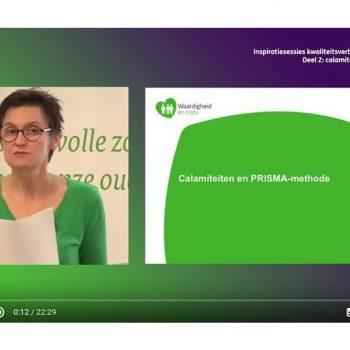 Afbeelding bij 'Video inspiratiesessie kwaliteitsverbetering verpleeghuiszorg: Calamiteiten en PRISMA-methode'