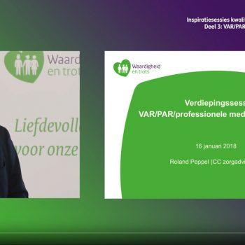 Afbeelding bij 'Video inspiratiesessie kwaliteitsverbetering verpleeghuiszorg: VAR/PAR/professionele zeggenschap'