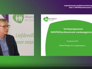 Afbeelding bij 'Video inspiratiesessie kwaliteitsverbetering verpleeghuiszorg: VAR/PAR/professio..'