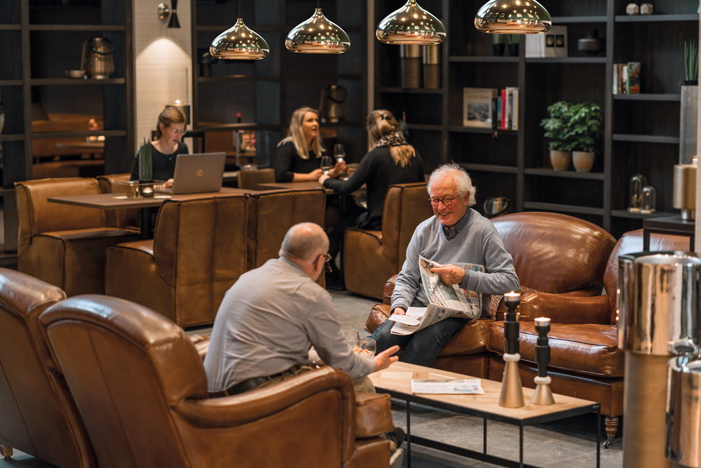 De lobby van de Leyhoeve in Groningen