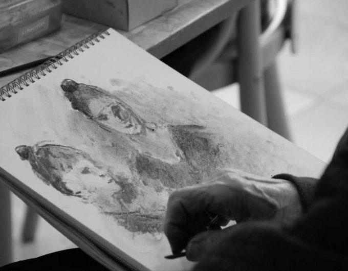 Afbeelding bij 'Op bezoek bij het Rosa Spier Huis: 'Een kunstenaar gaat nooit met pensioen''