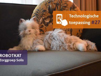Afbeelding bij 'De robotkat houdt cliënten gezelschap'