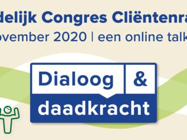 Afbeelding bij 'Landelijk Congres Cliëntenraden 2020 – online'
