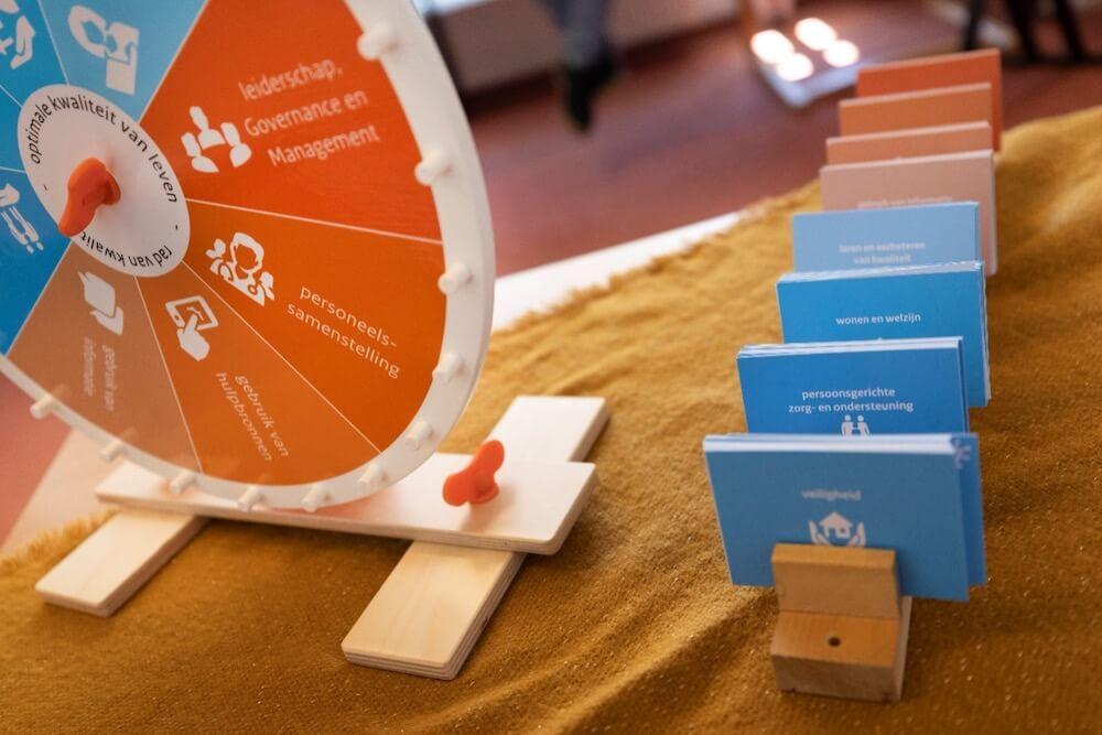 Rad van kwaliteit om te brainstormen over kwaliteit in je verpleeghuisorganisatie